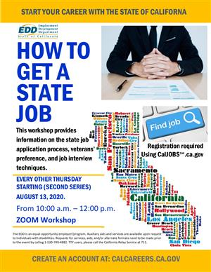 How to get a state job workshop every other Thursday